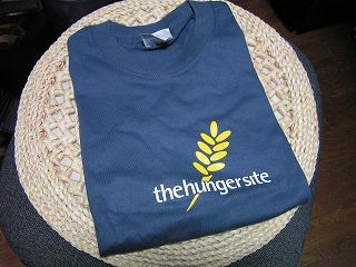 Hunger Site Steel Blue T-Shirt